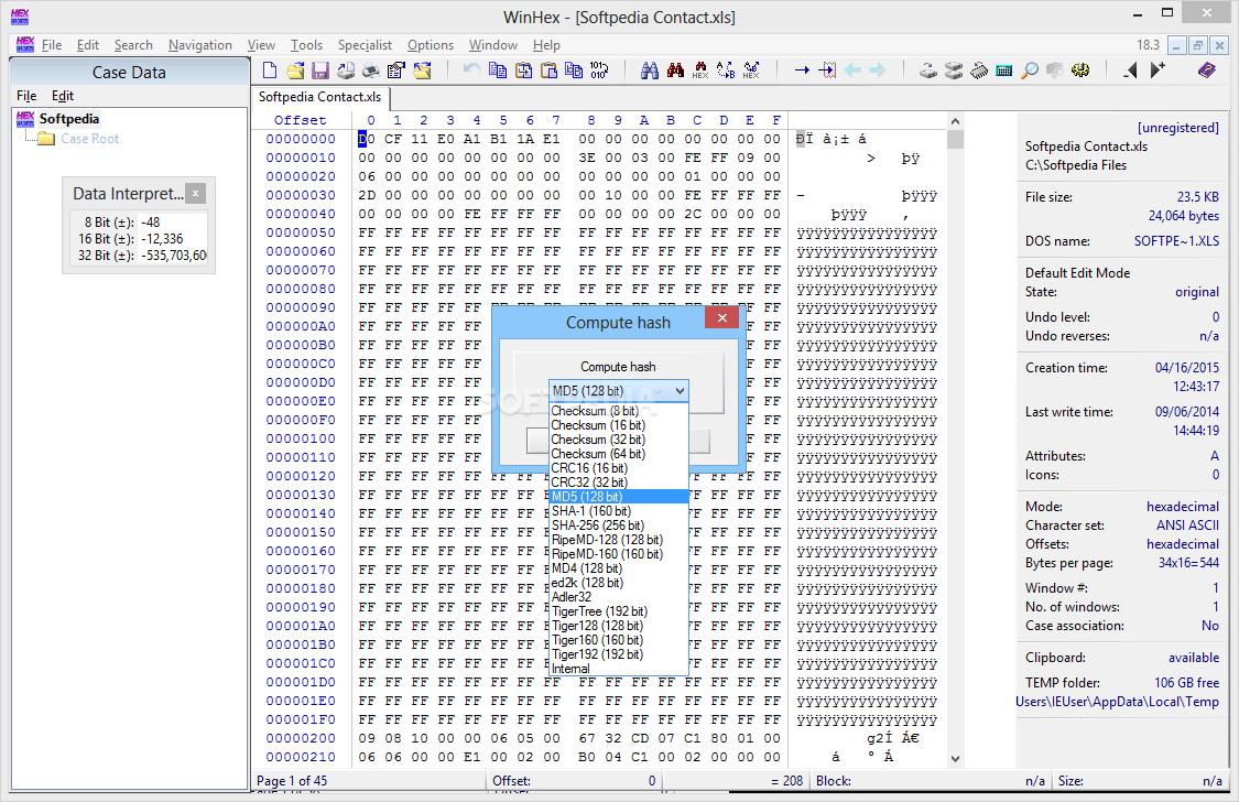 WinHex Full Version Free