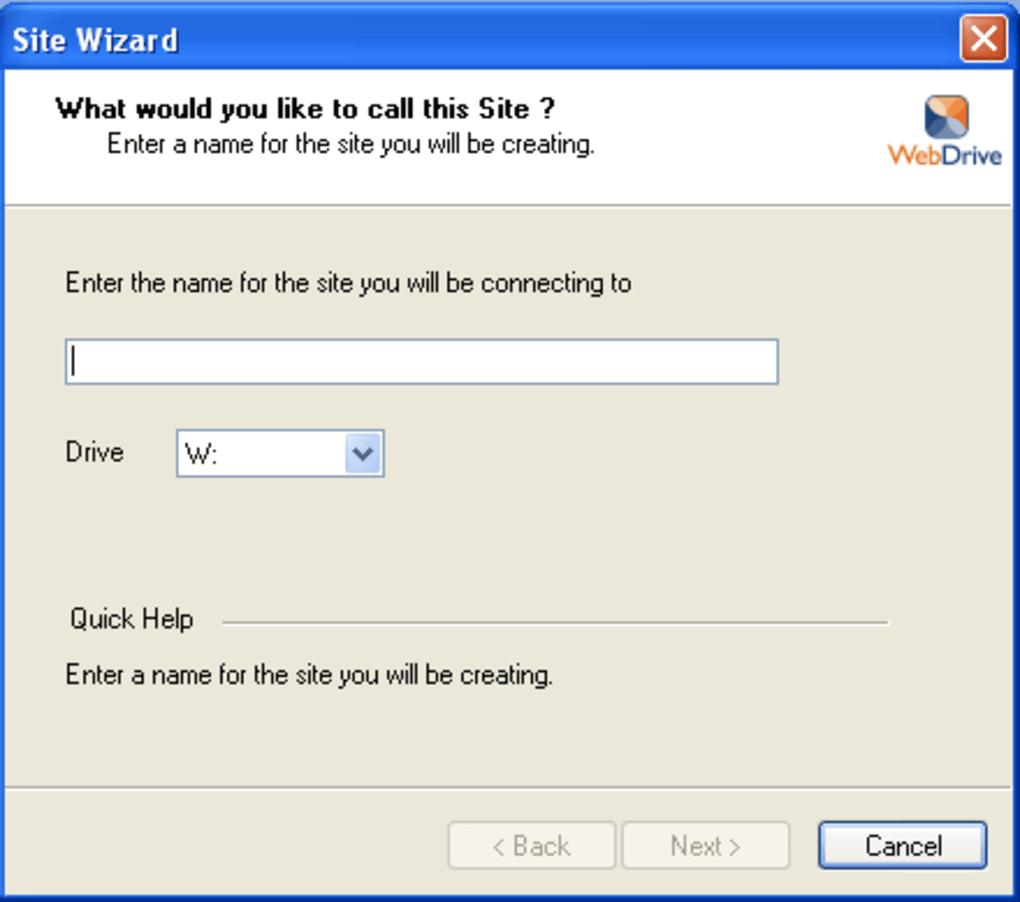 WebDrive Serial Key